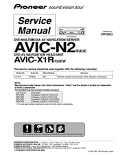 PIONEER AVIC-N2 SERVICE MANUAL Pdf Download