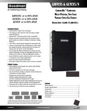 Goodman Gmvc950704cx Manuals