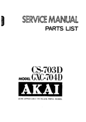 Akai CS-703D Service Manual