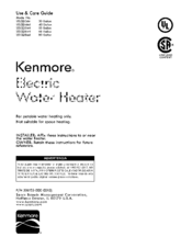 Kenmore 153.321344 Use & Care Manual
