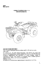 honda fourtrax trx300fw manuals rh manualslib com honda trx250 fourtrax service manual honda fourtrax 250 service manual pdf