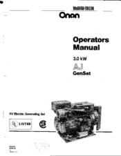 Onan 3.0 kW AJ GEN SET Manuals Majb Onan Genset Wiring Diagram on