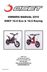 OSET 12.5 ECO OWNER'S MANUAL Pdf Download. Oset Wiring Diagram on