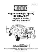 western ice breaker wiring diagram western image western ice breaker hopper spreader manuals on western ice breaker wiring diagram