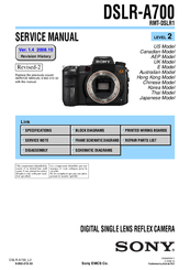 sony dslr a700 service manual pdf download rh manualslib com sony a700 service manual pdf sony a700 service manual pdf