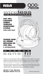 RCA Casque sans fil CWHP160T User Manual