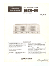 Pioneer SG-9 Operating Instructions Manual
