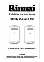 rinnai infinity 20e installation and user manual pdf download rh manualslib com Infinity 20 Heat Pump rinnai infinity 20 user manual
