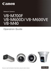 Canon VB-M40 Operation Manual