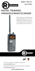 radio shack pro 651 manuals rh manualslib com radio shack pro 89 manual free Radio Shack Race Scanner Manual