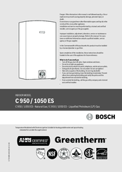 Bosch THERM C 1050 ES Installation Manual