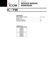 Icom IC-718 Manuals