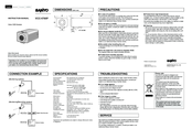 Sanyo VCC-4795P Instruction Manual