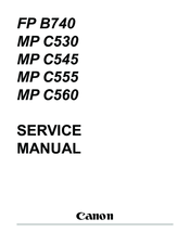 Canon MultiPASS C555 Service Manual
