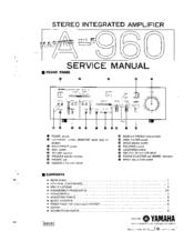 YAMAHA A-960 SERVICE MANUAL Pdf Download