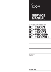 ICOM IC-F6021 SERVICE MANUAL Pdf Download