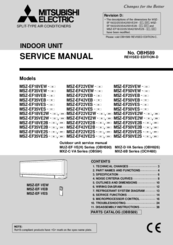 we have 4 mitsubishi electric msz-ef50veb manuals available for free pdf  download: service manual, operating instructions manual, installation manual