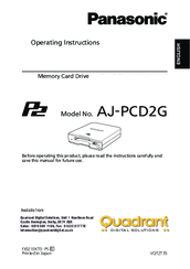 Panasonic AJ-PCD2G Operating Instructions Manual
