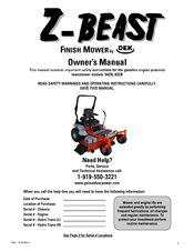 Z Beast 54zb Owner S Manual Pdf