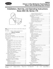 carrier gas furnace 58mxa manuals rh manualslib com carrier furnace 58cva installation manual carrier infinity furnace installation manual