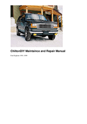 Ford Ranger Maintaince And Repair Manual Pdf Download
