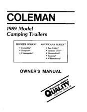 coleman 1989 americana series sequoia manuals rh manualslib com 2001 toyota sequoia owners manual pdf 2006 sequoia owners manual