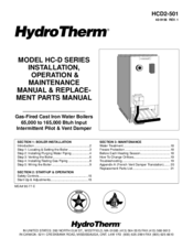 Hydrotherm HC-100 Manuals