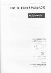 fisher paykel ad39 manuals fisher paykel ad39 installation and instructions manual