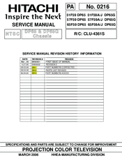 Hitachi 51f59j Manuals Manualslib