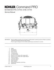 Kohler command 22 service Manual