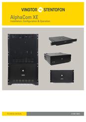 vingtor stentofon alphacom xe series manuals rh manualslib com RCA User Manual stentofon turbine user manual