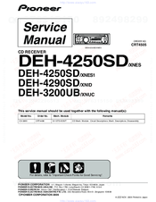 manuals and user guides for pioneer deh-3200ub/xnuc  we have 1 pioneer deh- 3200ub/xnuc manual available for free pdf download: service manual