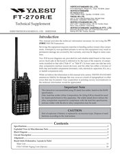 Yaesu FT-270R Technical Supplement