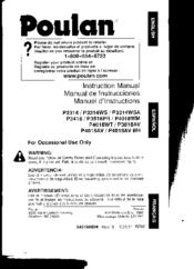 poulan p3314 manual