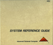 NEC Advanced Personal Computer System Reference Manual