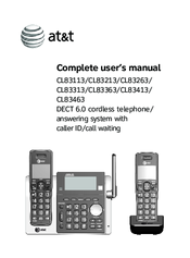 at t cl83213 manuals rh manualslib com at&t wireless home phone user guide at&t el52300 dect 6.0 cordless phone user manual