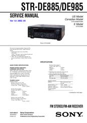sony str de985 manuals rh manualslib com sony str-de985 review sony str-de985 review