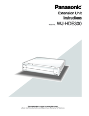 Panasonic WJHDE300 - DIGITAL DISK RECORDER Instruction Manual