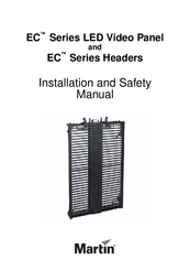 Martin EC Series LED Video Panel Installation And Safety Manual