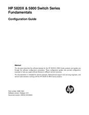 HP A5820X Series Configuration Manual