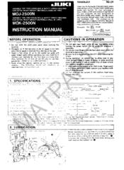 juki moj 2500n instruction manual pdf download rh manualslib com