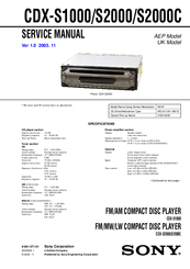 sony cdx s2000c manuals rh manualslib com sony cdx-s2000 user manual sony cdx-s2000 user manual
