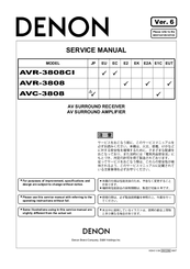 denon avr 3808 manuals rh manualslib com denon avr-3808 owners manual denon avr-3808 owners manual