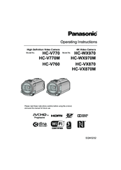 PANASONIC HC-V770 OPERATING INSTRUCTIONS MANUAL Pdf Download