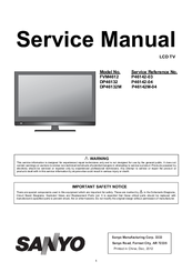 sanyo dp46132m manuals rh manualslib com Sanyo TV Replacement Stands Sanyo 46 LCD TV Parts