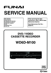 funai wd6d m100 manuals rh manualslib com funai wd6d-d4413db service manual funai service manuals for sc724df tv combo