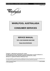 Whirlpool 6ALSC8255JQ0 Manuals