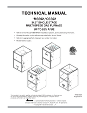 Amana GMSS921004CN Technical Manual