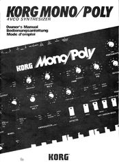 Korg Mono/Poly Owner's Manual
