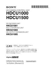 sony hdcu1000 manuals rh manualslib com sony operating manual for rm-x60m sony operating manuals for str de 455
